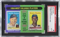 1958-Most Valuable Players (Jackie Jensen, Ernie Banks) [SGC Authentic&nbs…