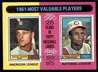 1961-Most Valuable Players (Roger Maris, Frank Robinson) [EX MT]