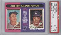 1962-Most Valuable Players (Mickey Mantle, Maury Wills) [PSA 6 EX&#82…