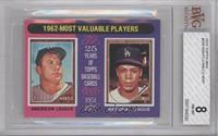 1962-Most Valuable Players (Mickey Mantle, Maury Wills) [BVG 8 NM&#82…