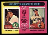 1963-Most Valuable Players (Sandy Koufax, Elston Howard) [EXMT]