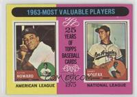 1963-Most Valuable Players (Sandy Koufax, Elston Howard)