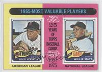 1965-Most Valuable Players (Zoilo Versalles, Willie Mays)