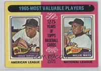 1965-Most Valuable Players (Zoilo Versalles, Willie Mays) [GoodtoVG…