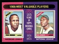 1966 Most Valuable Players (Frank Robinson, Roberto Clemente) [EX MT]