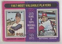 1967-Most Valuable Players (Carl Yastrzemski, Orlando Cepeda) [Poorto&nbs…