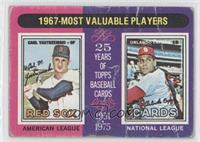 1967-Most Valuable Players (Carl Yastrzemski, Orlando Cepeda) [Poor to&nbs…