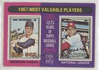 1967-Most Valuable Players (Carl Yastrzemski, Orlando Cepeda) [Good to&nbs…