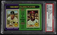 1968-Most Valuable Players (Bob Gibson, Denny McClain) [PSA6EX̴…