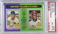 1968-Most Valuable Players (Bob Gibson, Denny McClain) [PSA8NM̴…