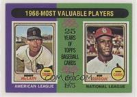 1968-Most Valuable Players (Bob Gibson, Denny McClain)