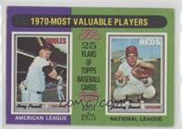 1970-Most Valuable Players (Boog Powell, Johnny Bench)