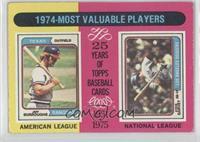 1974-Most Valuable Players (Jeff Burroughs, Steve Garvey)