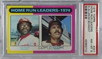 Home Run Leaders - 1974 (Dick Allen, Mike Schmidt) [PSA 8 NM‑MT]