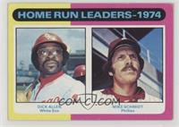 Home Run Leaders - 1974 (Dick Allen, Mike Schmidt) [Good to VG‑…