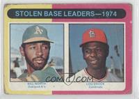 Stolen Base Leaders-1974 (Billy North, Lou Brock) [Poor]