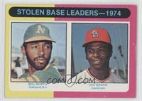 Stolen Base Leaders-1974 (Billy North, Lou Brock)