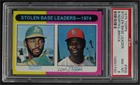 Stolen Base Leaders-1974 (Billy North, Lou Brock) [PSA8NM‑MT]