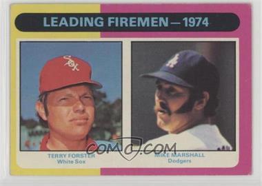 1975 Topps - [Base] #313 - Leading Firemen - 1974 (Terry Forster, Mike Marshall) [GoodtoVG‑EX]