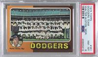 Los Angeles Dodgers Team Checklist (Walter Alston) [PSA8NM‑MT]
