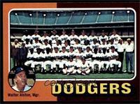 Los Angeles Dodgers Team Checklist (Walter Alston) [NM]