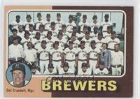 Milwaukee Brewers Team, Del Crandall