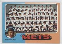 New York Mets Team, Yogi Berra [Good to VG‑EX]