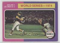 World Series - 1974 - Game 4 [GoodtoVG‑EX]