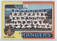 Texas Rangers Team Checklist (Billy Martin)