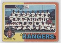 Texas Rangers Team Checklist (Billy Martin) [PoortoFair]