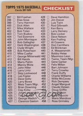 1975 Topps - [Base] #517 - Checklist