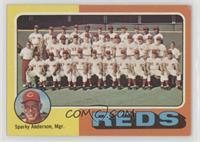 Cincinnati Reds Team Checklist (Sparky Anderson) [GoodtoVG‑EX]