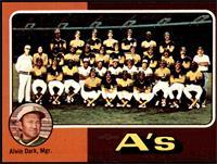 Oakland Athletics Team Checklist (Alvin Dark) [VGEX]