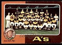 Oakland Athletics Team Checklist (Alvin Dark) [GOOD]