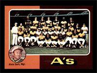 Oakland Athletics Team Checklist (Alvin Dark) [NMMT]