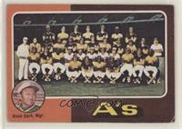 Oakland Athletics Team Checklist (Alvin Dark) [NoneGoodtoVG&#…