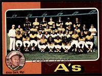 Oakland Athletics Team Checklist (Alvin Dark) [EX]