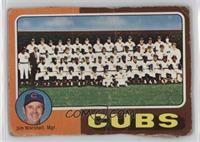 Cubs Team Checklist (Jim Marshall) [Poor]