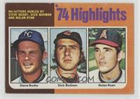 Steve Busby, Dick Bosman, Nolan Ryan [Good to VG‑EX]