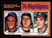 Steve Busby, Dick Bosman, Nolan Ryan [EX]