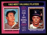 Mickey Mantle, Maury Wills [NM]