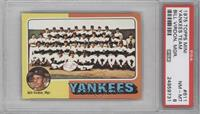 New York Yankees Team, Bill Virdon [PSA 8]