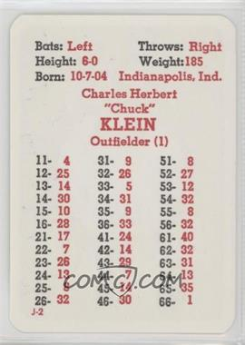 1976-85 APBA Baseball Great Teams of the Past - [Base] #CHKL - Chuck Klein