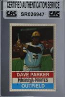 Dave Parker (Brown Back) [CASCertifiedSealed]