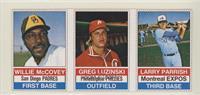 Willie McCovey, Greg Luzinski, Larry Parrish (Black Back)
