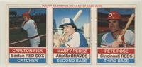 Carlton Fisk, Marty Perez, Pete Rose