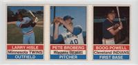 Larry Hisle, Pete Broberg, Boog Powell [Good to VG‑EX]