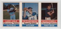 Larry Hisle, Pete Broberg, Boog Powell [GoodtoVG‑EX]