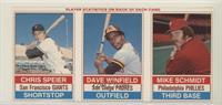 Chris Speier, Dave Winfield, Mike Schmidt