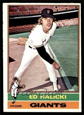 1976 O-Pee-Chee - [Base] #423 - Ed Halicki [EX]